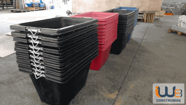 masseira plástica para concreto