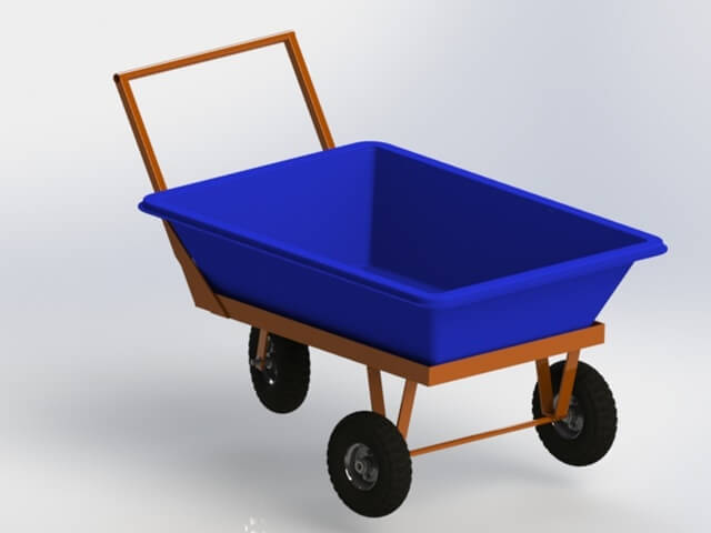 Carrinho para transporte masseira 150 litros