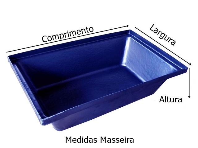 MASSEIRA PLASTICA AZUL 20 LITROS MEDIDAS