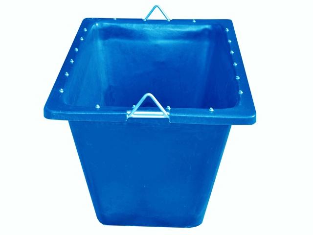 caixa para massa 200 litros azul com ferragem
