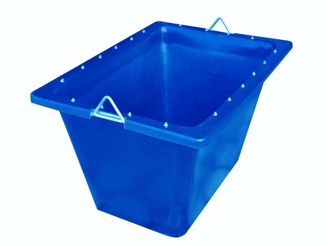 caixa para massa com ferragem 200 litros azul