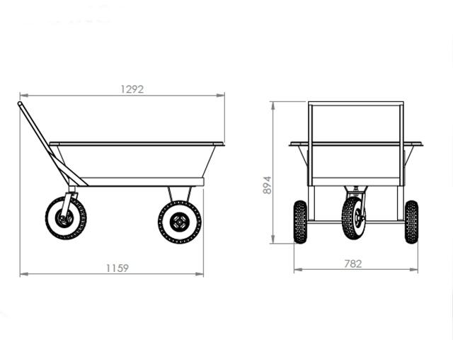 carrinho para masseira 150 litros medidas