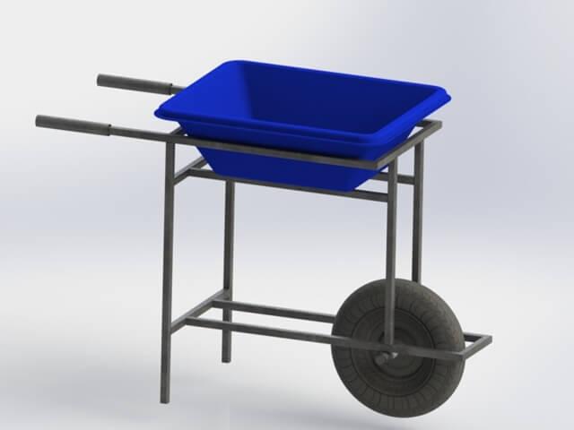 carrinho para masseira 50 litros
