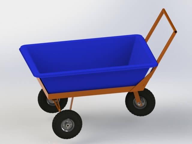 carrinho para masseira de 150 litros
