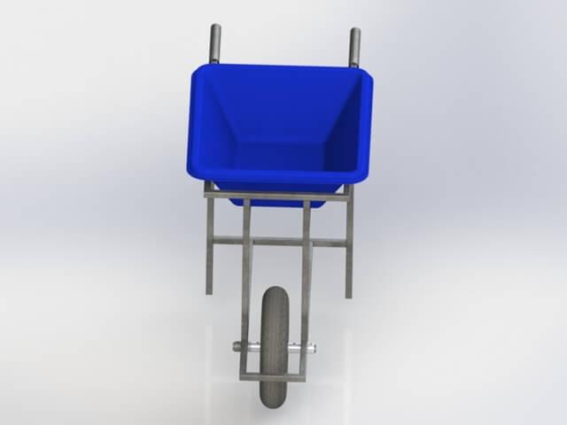 carrinho porta masseira capacidade 50 litros