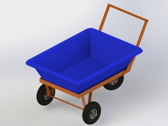 carrinho porta masseira de 150 litros