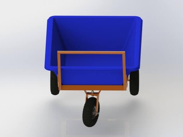 carrinho transporte masseira 150 litros