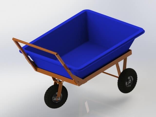 carrinho transporte para masseira 150 litros
