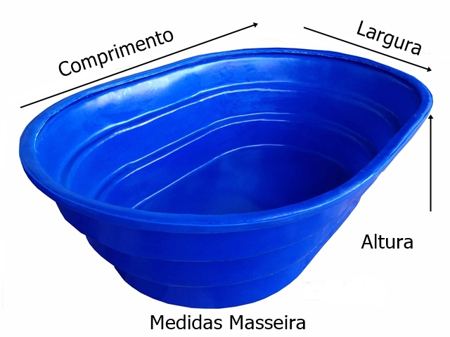 medidas caixa para massa 1000 kg azul