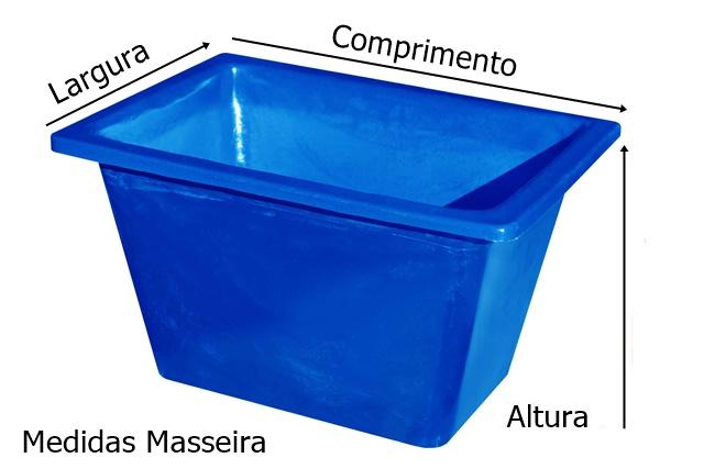 medidas caixa para massa azul sem ferragem