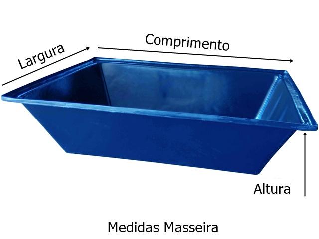 medidas masseira 150 litros azul