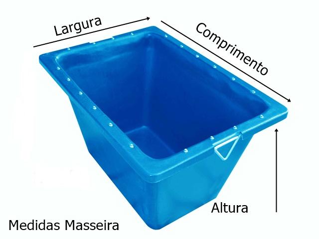 medidas masseira 200 litros azul