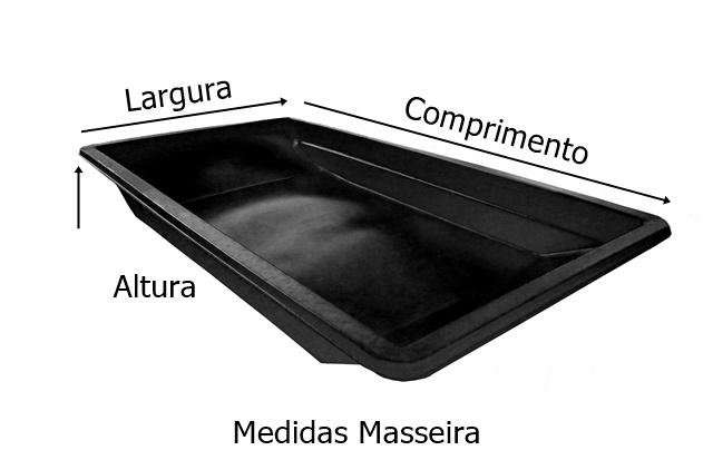 medidas masseira 500 litros preta