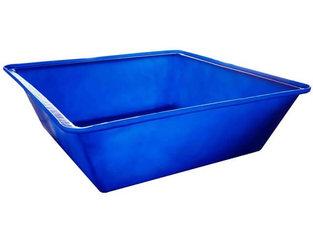 caixa argamassa 250 litros azul