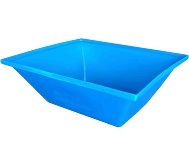 caixa argamassa 50 litros azul